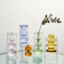 Vase en verre de style hydroponique, décoration