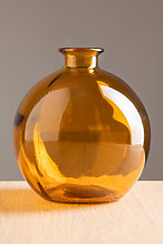 Vase en verre recyclé Kimma Ambre jaune Sklum
