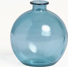 Vase en verre recyclé Kimma Bleu Celeste Sklum