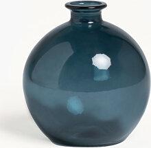 Vase en verre recyclé Kimma Bleu Pacifique Sklum