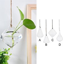 Vase en verre transparent suspendu en forme de