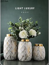 Vase hydroponique en céramique dorée