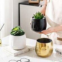 Vase nordique en céramique dorée pour le visage,