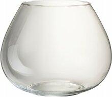 Vase verre transparent H30cm