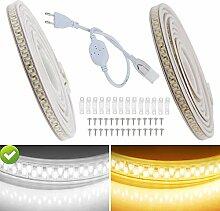 VAWAR 12m Ruban à LED - blanc froid, Bande de