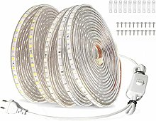VAWAR 25m Ruban à LED avec interrupteur - blanc