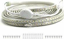 VAWAR 2m Ruban à LED - blanc chaud, Bande de 2835