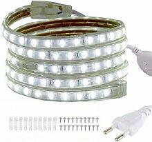 VAWAR 4m Ruban à LED - blanc froid, Bande de 5050