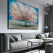 VCFHU Arbre coloré Arts Toile Tableaux Affiche