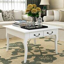 VDTD09292_FR Table basse avec 4 tiroirs Blanc -