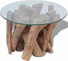 VDTD09829_FR Table basse Teck massif 50 cm -