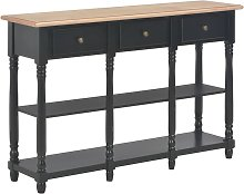 VDTD22171_FR Table console Noir 120x30x76 cm MDF -