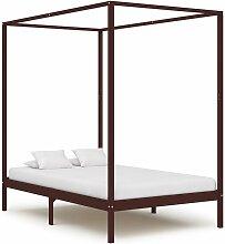 VDTD24161_FR Cadre de lit à baldaquin Marron