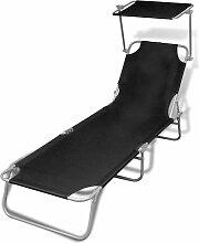 VDTD26391_FR Chaise longue pliable avec auvent
