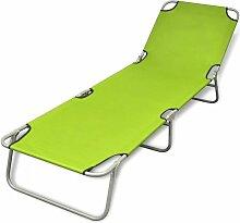 VDTD26523_FR Chaise longue pliable Acier enduit de