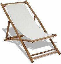 VDTD26531_FR Chaise de terrasse Bambou et toile -