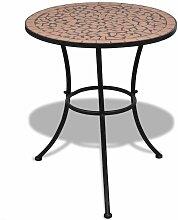 VDTD26554_FR Table de bistro Terre cuite 60 cm