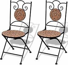 VDTD26555_FR Chaises pliables de bistro 2 pcs