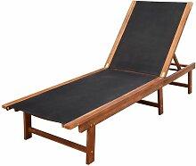 VDTD26678_FR Chaise longue Bois d'acacia