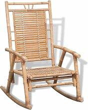 VDTD26745_FR Chaise à bascule en bambou - Topdeal