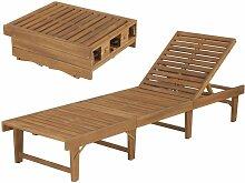 VDTD28460_FR Chaise longue pliable Bois