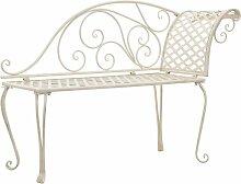 VDTD29563_FR Chaise longue de jardin 128 cm Métal