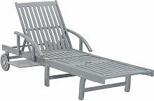 VDTD29915_FR Chaise longue de jardin Gris Bois