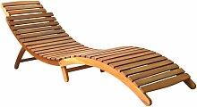 VDTD30059_FR Chaise longue Bois d'acacia