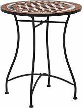 VDTD30075_FR Table de bistro mosaïque Marron 60