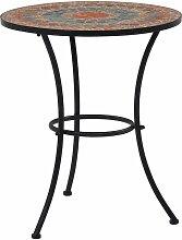 VDTD30079_FR Table de bistro mosaïque Orange/gris