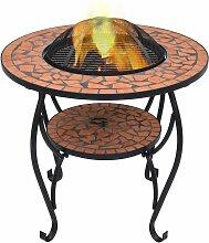 VDTD30085_FR Table de foyer mosaïque Terre cuite