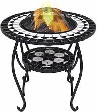 VDTD30087_FR Table de foyer mosaïque Noir et