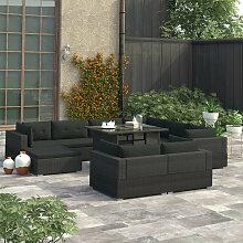 VDTD30098_FR Mobilier de jardin 10 pcs avec