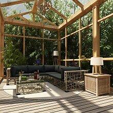 VDTD30151_FR Mobilier de jardin 6 pcs avec