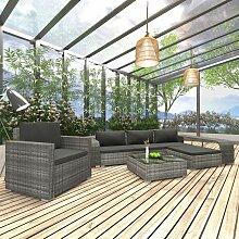 VDTD30165_FR Mobilier de jardin 8 pcs avec