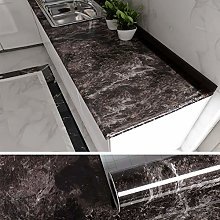 VEELIKE Papier Peint Adhesif Mural Sombre Marbre