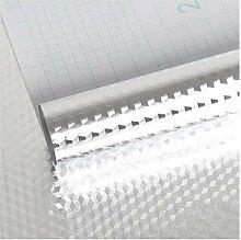 VEELIKE Papier Peint Argenté Papier Peint Adhesif