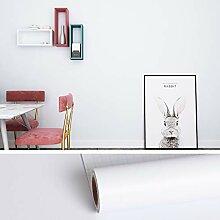 VEELIKE Papier Peint Blanc Papier Adhésif pour