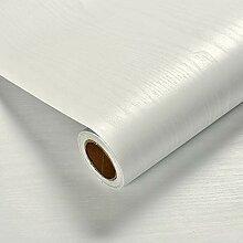 VEELIKE Papier Peint Bois Beige 40cm x 900cm