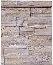 VEELIKE Papier Peint Brique Papier Peint Imitation
