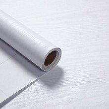 VEELIKE Papier Peint En Bois Blanc Vintage Papier