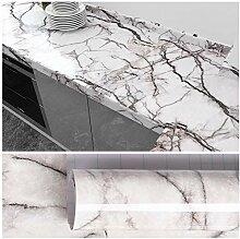 VEELIKE Papier Peint Marbre Blanc Gris Papier