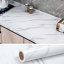 VEELIKE Papier Peint Marbre Vinyle Adhesif Rouleau