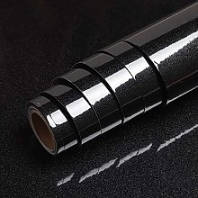 VEELIKE Papier Peint Noir Brillant Rouleau