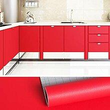 VEELIKE Papier Peint Rouge Papier Adhesif pour