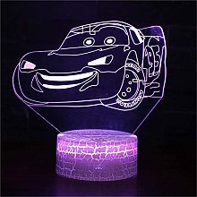 Veilleuse 3D Cars Flash McQueen Lampes à lave
