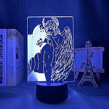 Veilleuse 3D Illusion Lampe 3D LED Lampe Anime