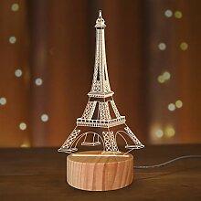 Veilleuse 3D Tour Eiffel pour fille Cadeau