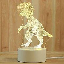 Veilleuse créative 3D en acrylique pour bureau,