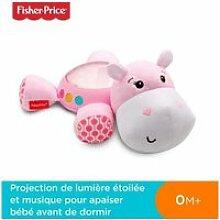 Veilleuse fisher-price - hippo rose douce nuit
